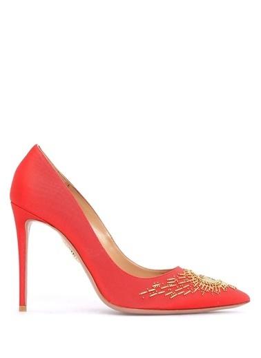 Aquazzura Stiletto Ayakkabı Kırmızı